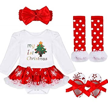 Baby Girls My First Christmas Costume Princess Lovely Romper Santa Outfits  Toddlers Party Fancy Dress - Amazon.com: Baby Girls My First Christmas Costume Princess Lovely
