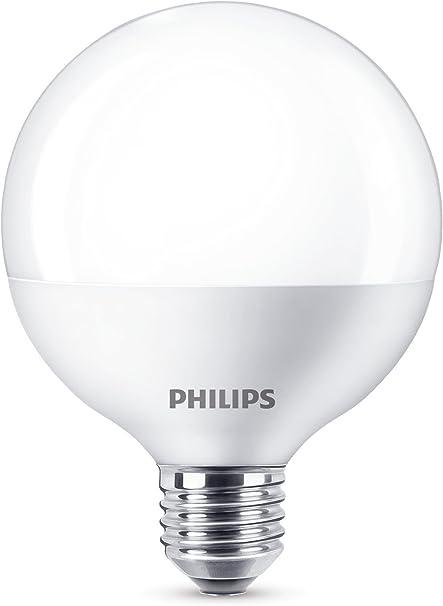 Image ofPhilips Lighting Bombilla LED Globo E27, luz blanca cálida, 60 W, Mediano           [Clase de eficiencia energética A+]