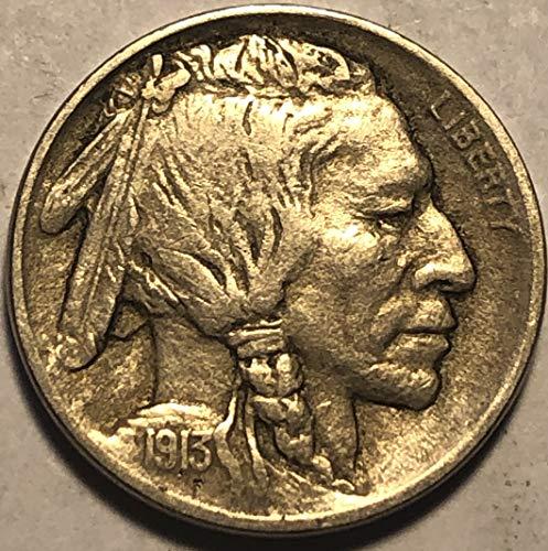 1913 P Buffalo ((TYPE I)) Nickel Extremely Fine