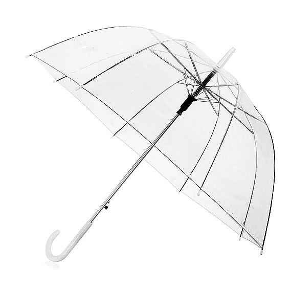 Durchsichtiger regenschirmmit automatischemnopf,PVC+Glasfaser