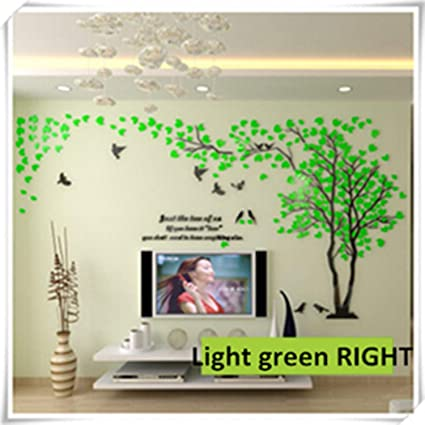 Jewh Large Size Tree Acrylic Decorative 3D Wall Sticker - DIY Art TV Background Wall Poster