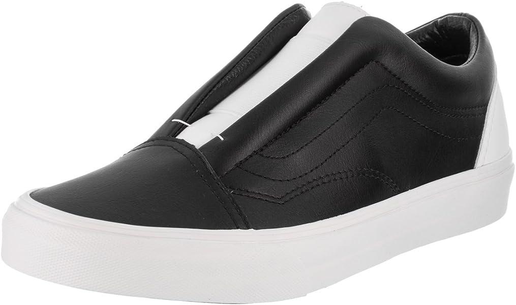 8dac7b47fc8c70 Vans Unisex Old Skool Laceless (Classic Tumble) Blk Tr Wht Skate Shoe 8