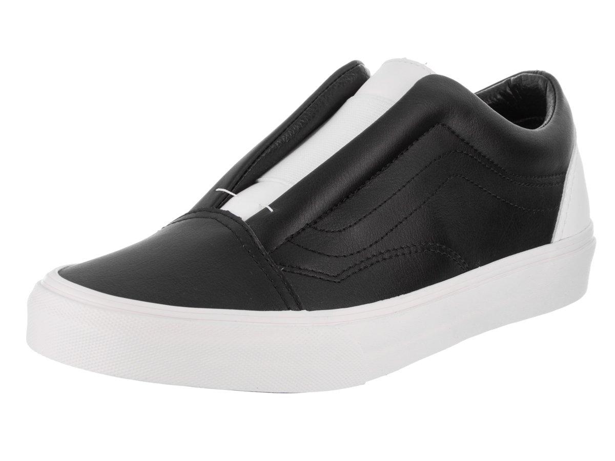 Vans Unisex Old Skool Laceless (Classic Tumble) Skate Shoe 9 D(M) US / 10.5 B(M) US|Blk/Tr Wht