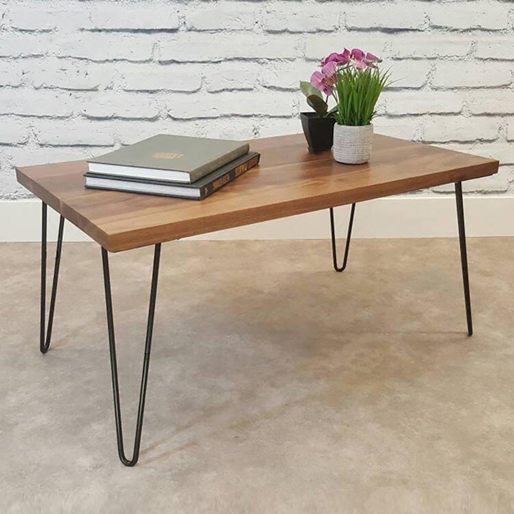 Haarnadel Tischbeine 4 Ruten 12 Zoll H/öhe Modern Style Metal Schreibtisch Beine Pulver beschichtet Schwarz 12 Zoll 30 cm