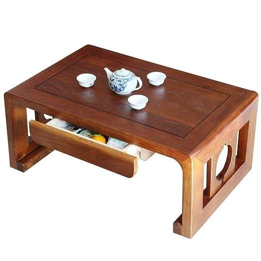 KQKLQQ Las mesas de café, Ventana de Madera Maciza Tabla Tatami ...