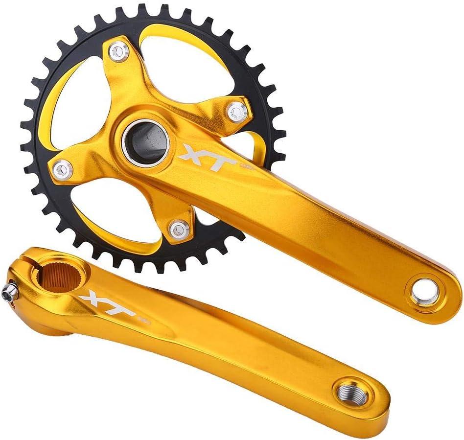 Crank Arm Set Aluminum Alloy Crankset Integral Single Speed Sprocket VGEBY1 Bike Crank Set