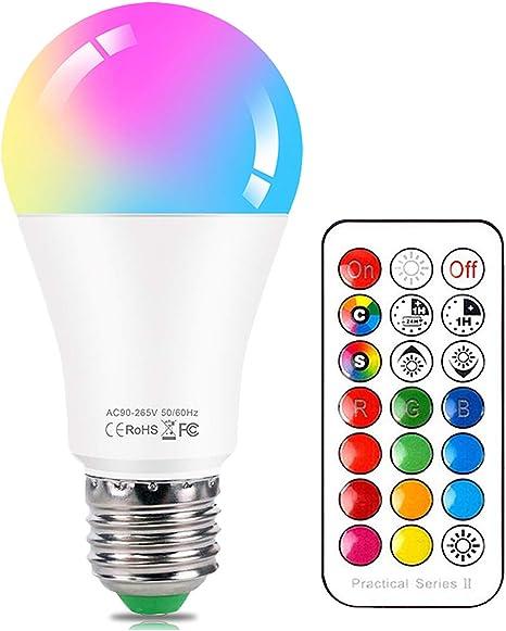 LED Licht Farbwechsel Lampe RGB 10W E14 16 Farbe LED Leuchtmittel mit Fernbedienung 85-265V E14