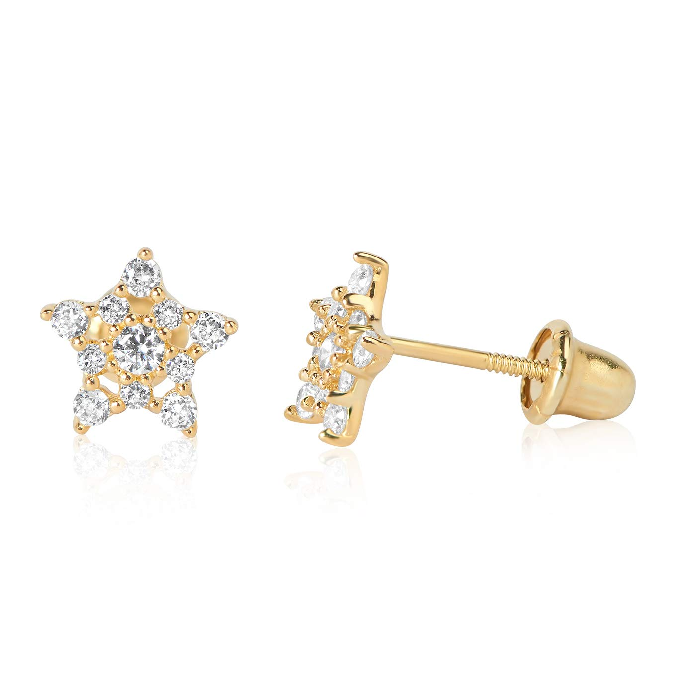 Olivias Collection 10k Yellow Gold Screw Back Stud Earrings