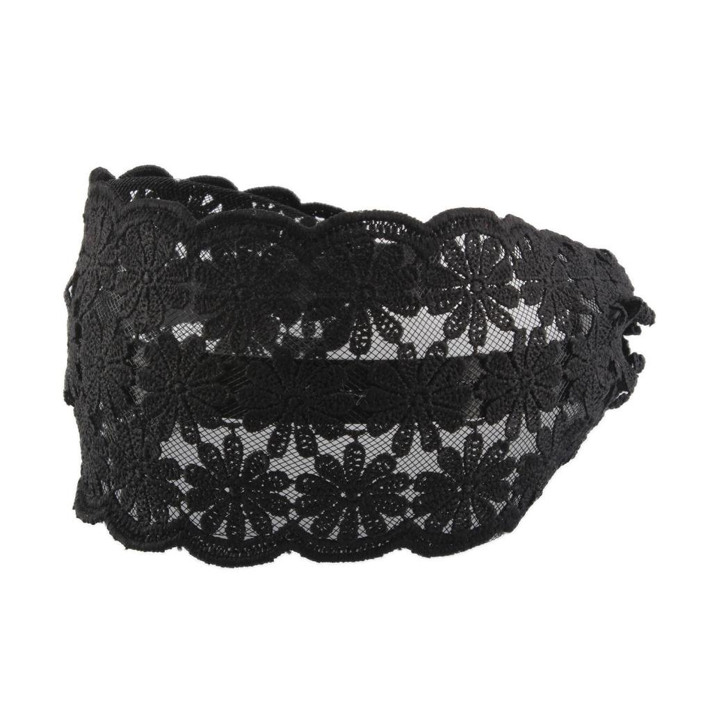 Blesiya Women Wide Alice Headband Hairwear Hairband with Black Braided Flower Lace 3 Fashion Styles