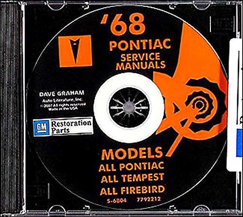 1968 PONTIAC REPAIR SHOP & SERVICE MANUAL & FISHER BODY MANUAL CD Bonneville, Catalina, GTO, Tempest, Tempest Custom, Tempest LeMans, Executive, Safari, Grand Prix, Firebird, Sprint, H.O., 350, 400 (all convertibles and wagons). 68