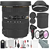 Sigma 10-20mm f/3.5 EX DC HSM Autofocus Zoom Lens For Canon DSLRs and Bundle w/Remote + Xpix 2-in-1Tripod + Deluxe Xpix Cleaning Kit + More