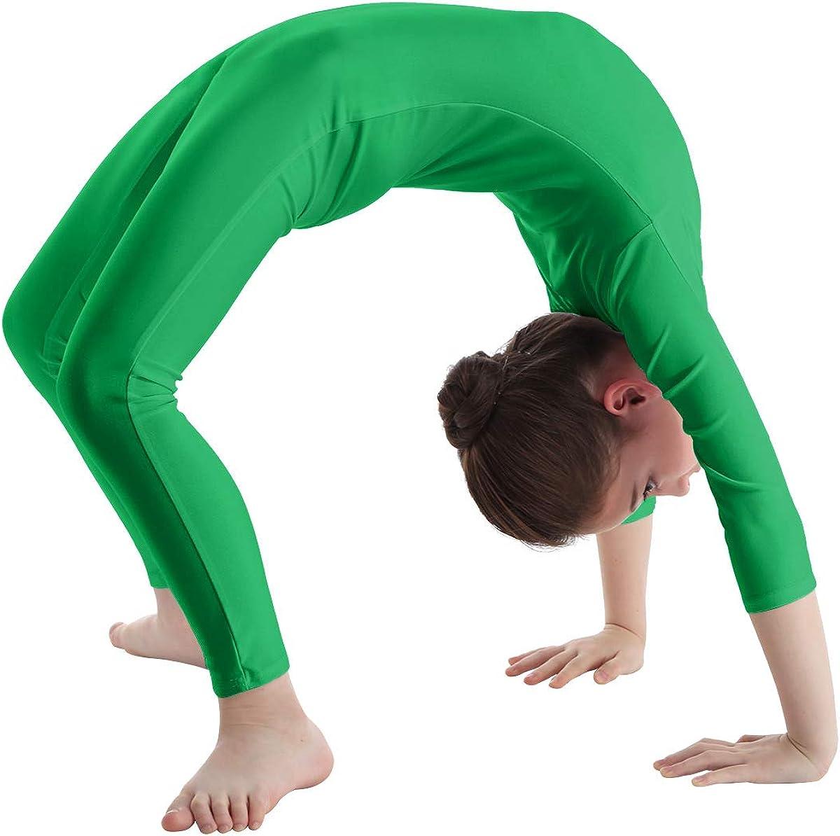ranrann Kinder M/ädchen Jungen Langarm Body Bodysuit Sport Overall Ballett Trikot Tanz Leotard Ganzk/örperanzug Einteiler Ballettanzug Gymnastik Turnanzug 5-12 Jahre