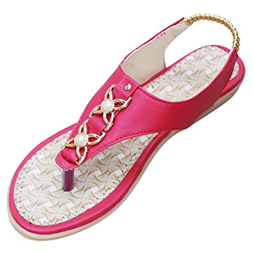 8f15d0879c3fbe Laxphonic Women s Pink New Fashion Style Elastic Band One Toe Flat Heel  Thong Slipper Sandals  Buy Online at Low Prices in India - Amazon.in