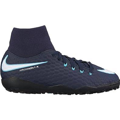 4ac1d0dfd56 Nike Youth Hypervenomx Phelon III DF Turf Shoes  Obsidian  (4.5Y)
