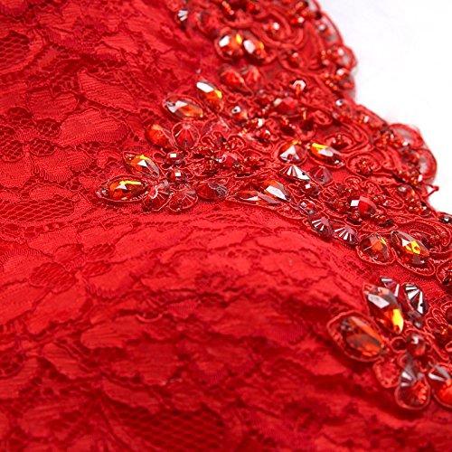 Off Lang Shoulder Dunkel Etui Damen Rot Abendkleider Kleider Meerjungfrau Babyonline® Ballkleid w4OPInqqx