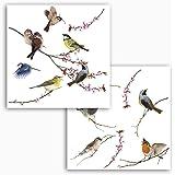 Wandsticker4u wandsticker niedliche vogel familie breite je zweig 75cm wandtattoo baum - Fensterdeko zweig ...