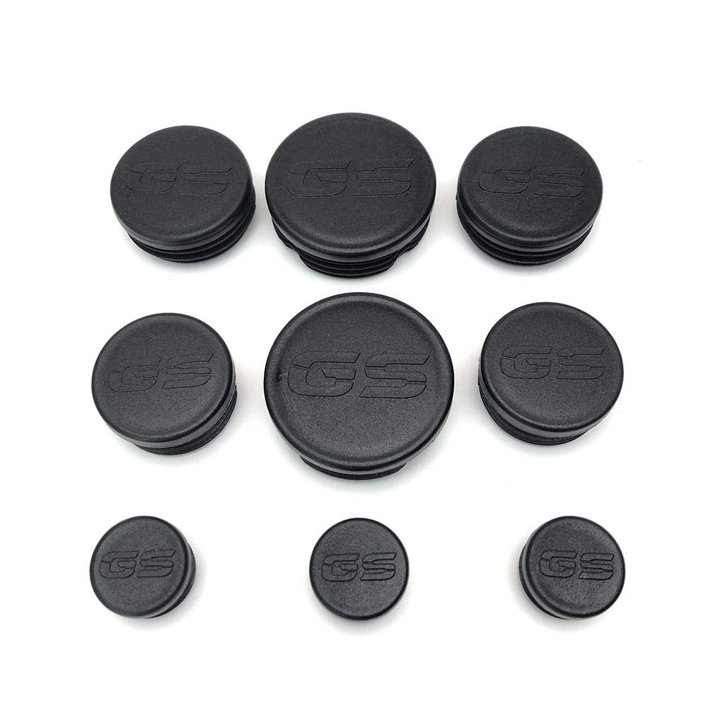 9pcs Set Rubber Frame Tube Hole Plugs Cover for BMW R1200GS R 1200 GS R1200 GS LC Adventure 2013 2014 2015 2016 2017 2018 Frame Cap Set