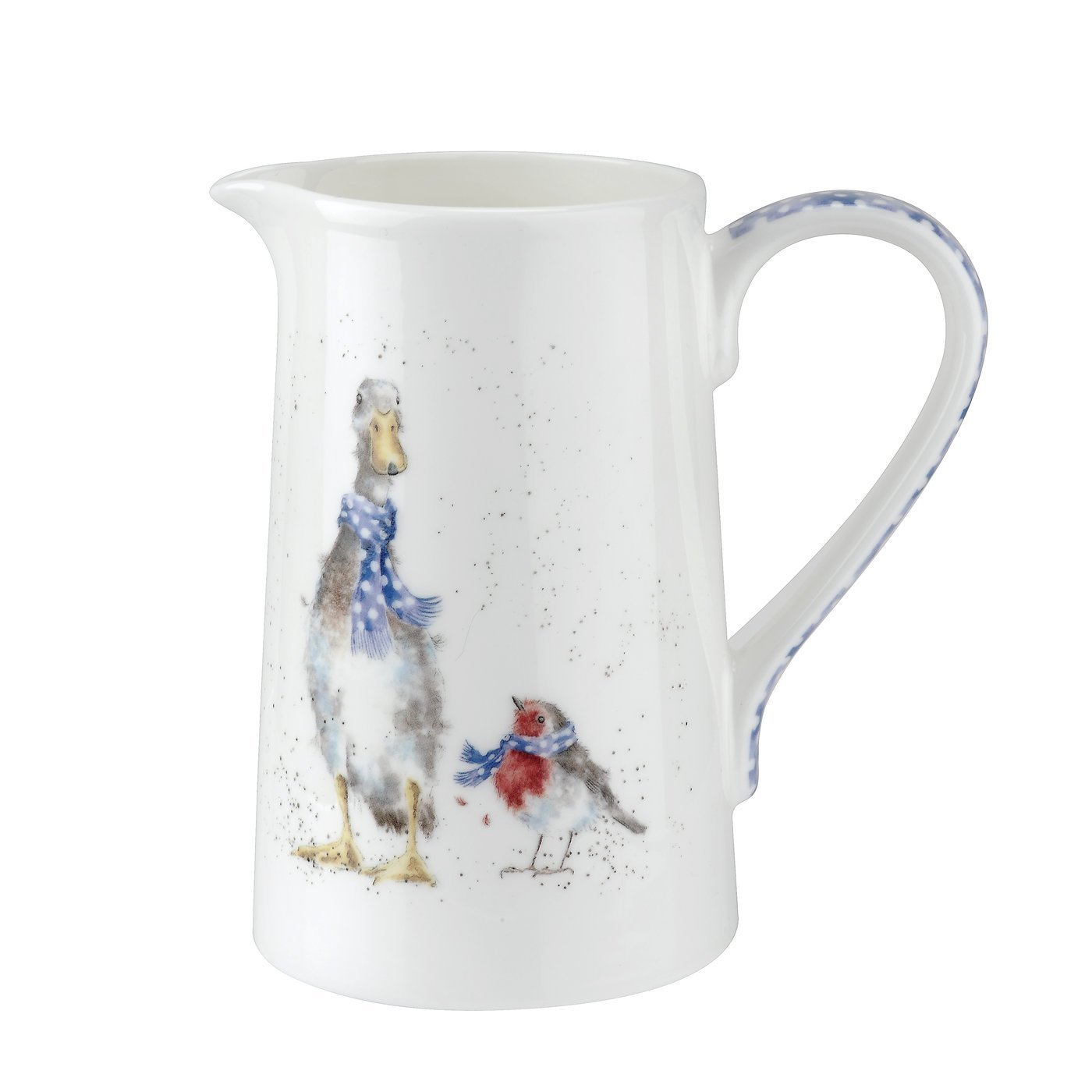 Wrendale Jug (Duck & Robin) 1 pint, multi colour Royal Worcester