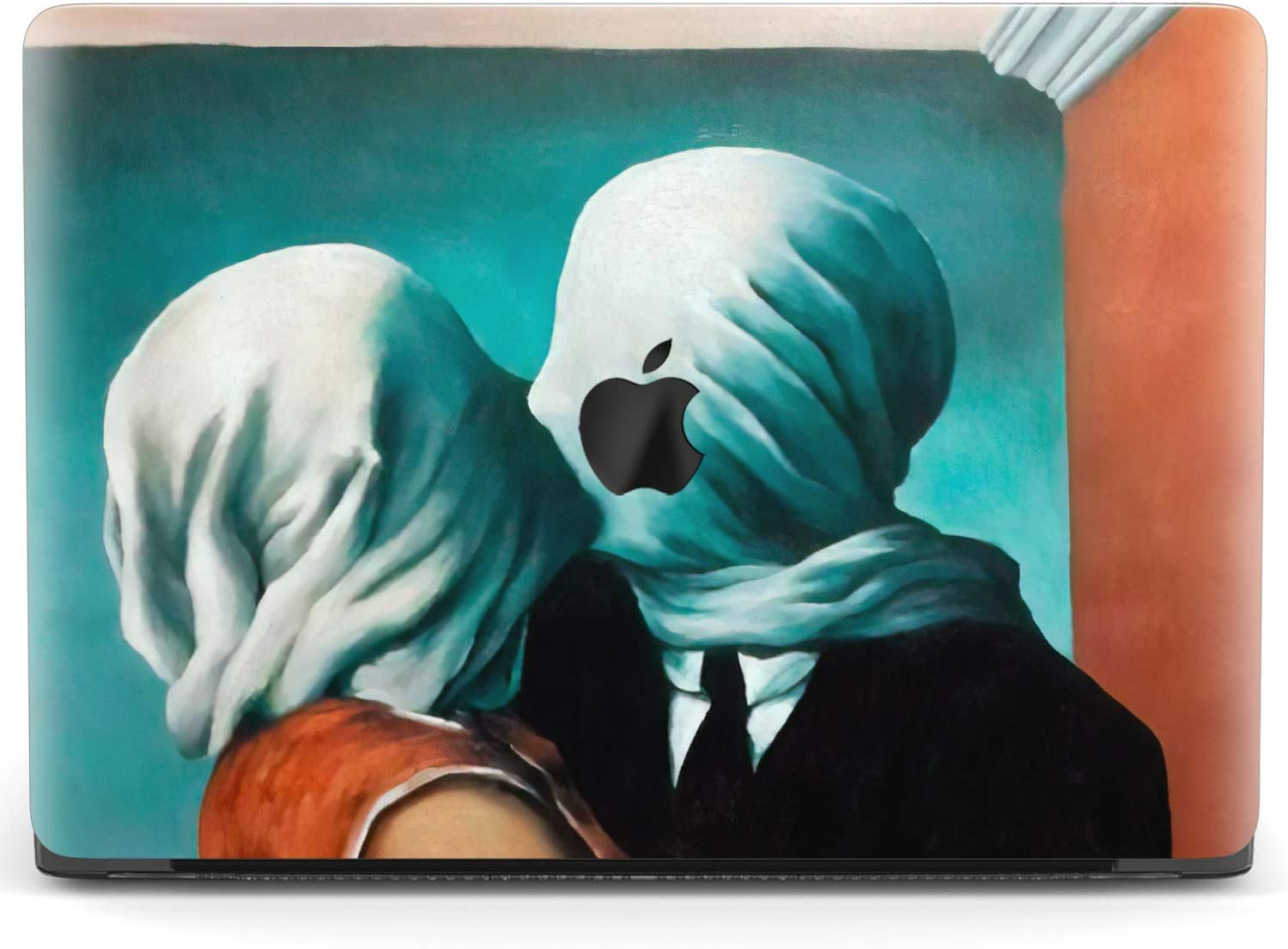 Mertak Hard Case for Apple MacBook Pro 16 Air 13 inch Mac 15 Retina 12 11 2020 2019 2018 2017 Clear Artwork Laptop The Lovers Kiss Touch Bar Cover Rene Magritte Plastic Protective Painting Print