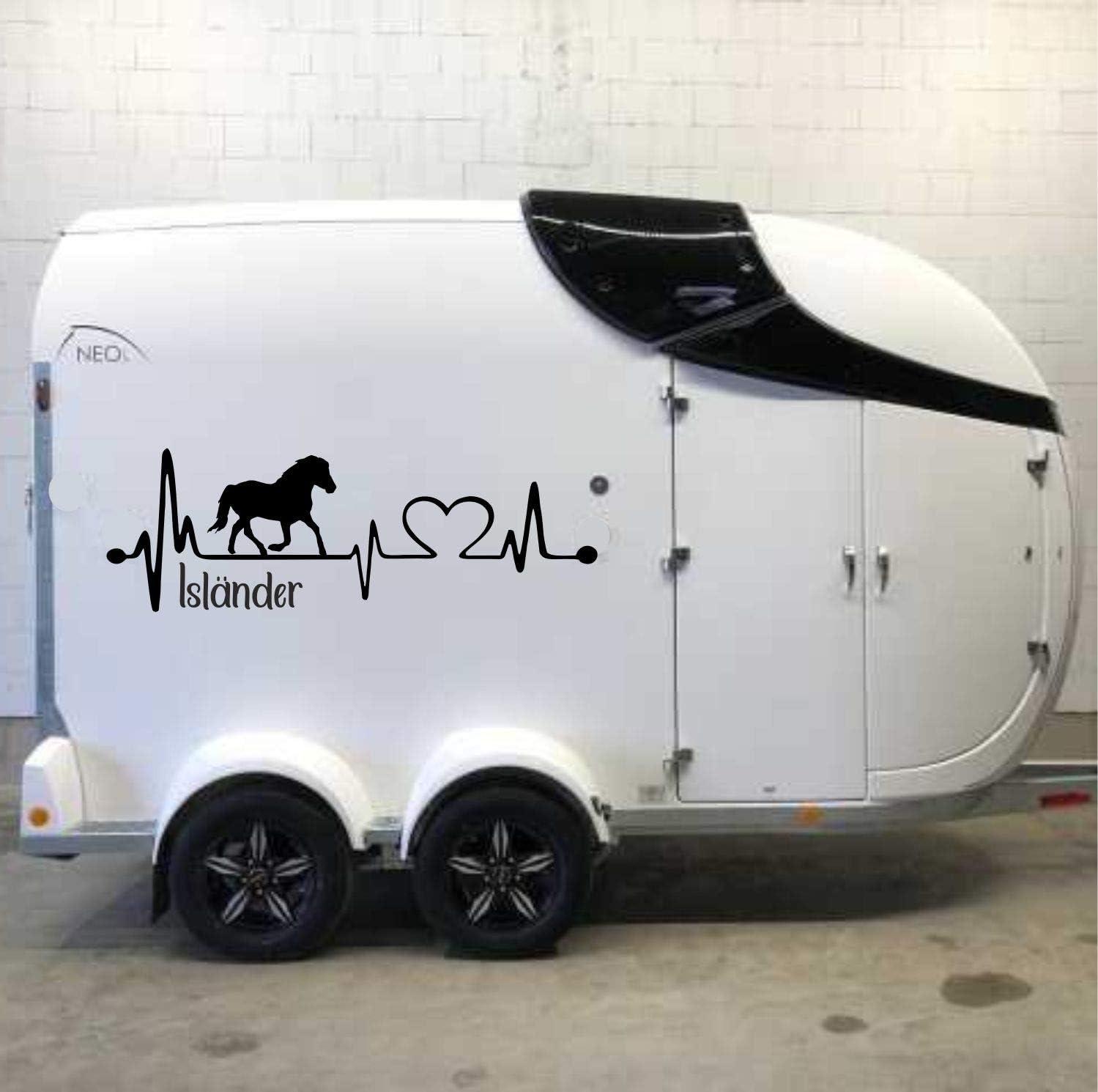 Pegatina Promotion Aufkleber Herzschlag Typ1 Ca 100cm 1stück Mit Herz Islandpferd Schriftzug Isländer Heartbeat Reiten Pony Auto
