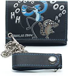 077d0ab38f34 Regular Show Cartoon Network Tri Fold Mens Wallet with Chain