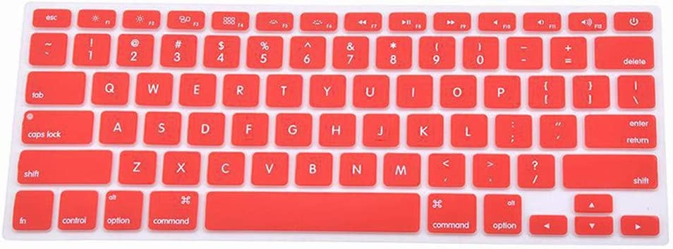 Laptop Accessories 9 Colors Silicone Laptop Keyboard Cover Skin for MacBook Pro MAC 13 15 Air 13 Soft Keyboard Stickers-Red