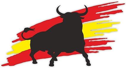 1 Pegatina de Toro con Bandera I kfz_263 I 20 x 10,5 cm Grande I ...