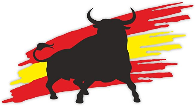 1 Pegatina de Toro con Bandera I kfz_263 I 20 x 10,5 cm Grande I Auto Adhesivo para Caravana portátil I España Espana Bulle I Resistente a la Intemperie: Amazon.es: Coche y moto