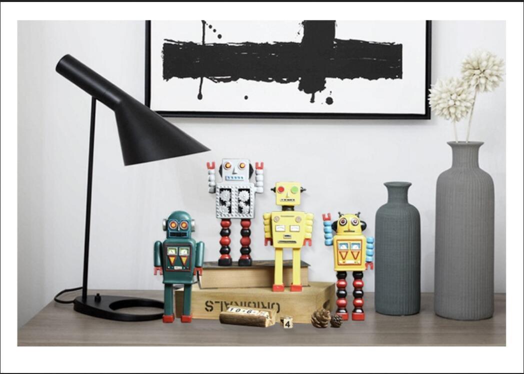 American resin crafts ornaments retro robot model ornaments cafe shop window TA122718 ( Color : D )