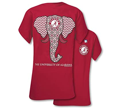 Southern Couture SC Classic Alabama Crimson Tide Elephant Womens Classic  Fit T-Shirt - Cardinal f549a6c5f