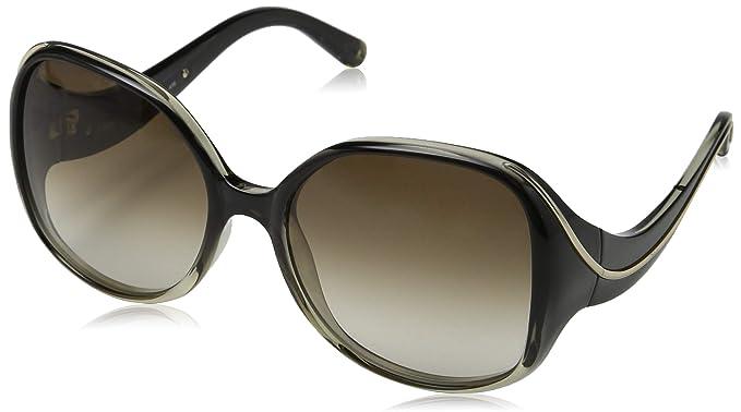 7141c6d3bd9f Amazon.com  Chloe CE728S 040 Gradient Grey Oversized Sunglasses ...