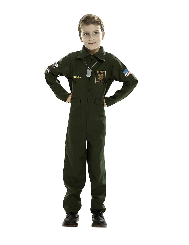 EUROCARNAVALES Disfraz de Piloto de Avión para niño: Amazon.es ...