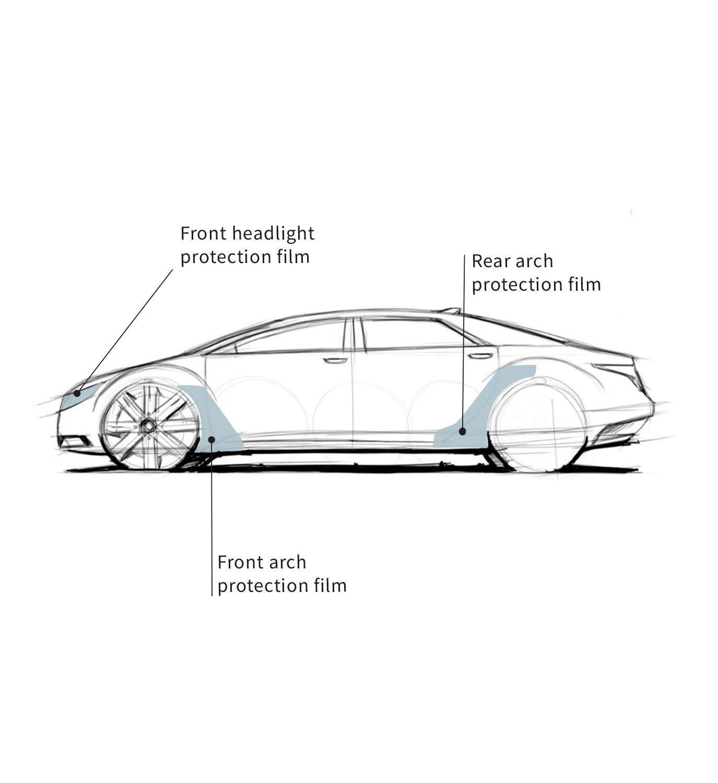 Wheelzone Pellicola Protettiva per Auto per Seat Ibiza 2017/_CS0085