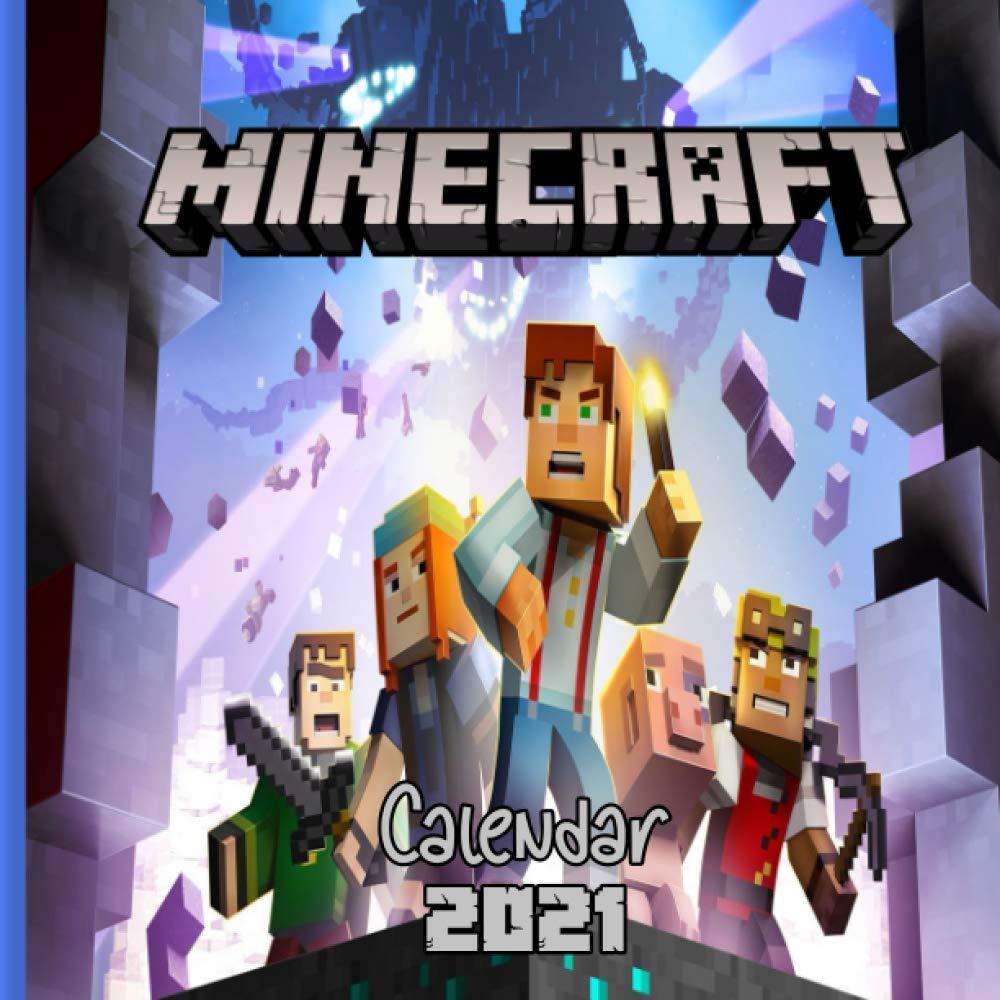 "Minecraft Wall Calendar 10: Minecraft 10 Wall Calendar(10.10"" x"