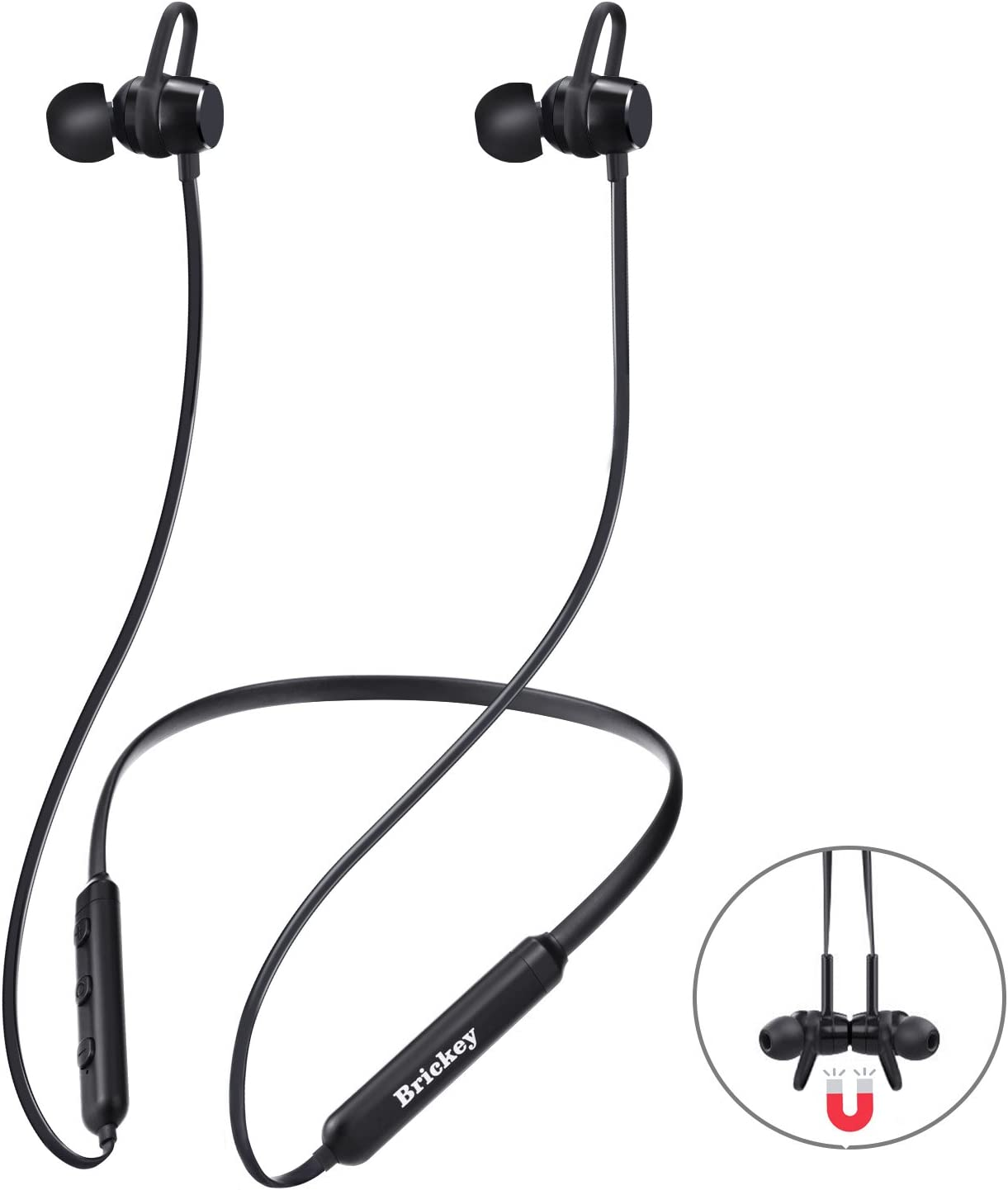 Bluetooth Headphones Wireless Headphones with Bluetooth 4.2 Sweatproof Earphones with Magnetic Earbuds for Sport Outdoor 9 Hours Playtime Sport Headphones for iPhone X/8/7/plus Samsung and Androi