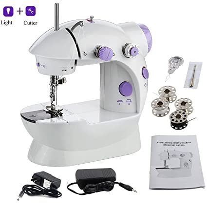 Amazon AMLINKER 40 Mini Sewing Machine Portable Electric Fascinating Portable Mini Sewing Machine