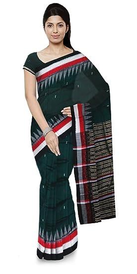 Maa Kandhenbudhi Saree Bomkai Handloom Cotton Saree (Multi-Coloured)