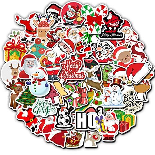 🥇 Christmas Theme Stickers Laptop Stickers Cute Cartoon Computer Vinyl Sticker Waterproof Bike Skateboard Luggage Decal Graffiti Patches Decal 50 PCS