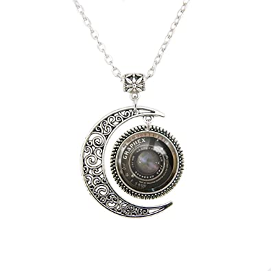 Amazon moon pendant camera necklace camera lens pendants moon pendant camera necklace camera lens pendants vintage grahpex pendant camera jewelry gift for her mozeypictures Choice Image