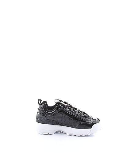 Fila Mujer 1010441Black Negro Poliuretano Zapatillas: Amazon.es: Zapatos y complementos