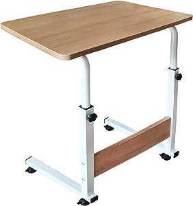 Laptop Desk, Home Office Desk, Student Desk, Adjustable Laptop Desk, Sofa Table, Mobile Bedside Table, Living Room Bedroom Table, Portable Breakfast Table (Oak)