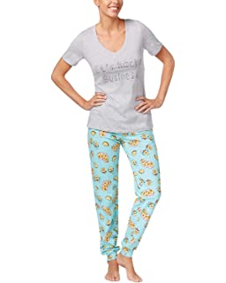 eb7a2a8a1b23 Jenni by Jennifer Moore Women's Graphic Print T-Shirt and Jogger Pants  Pajama Set