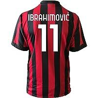 3rsport Camiseta Milan Ibrahimovic 11, réplica autorizada para niño (tallas 2, 4, 6, 8, 10, 12), adulto (S, M, L, XL)