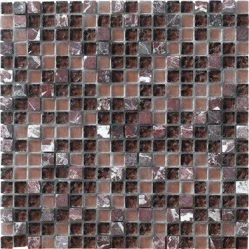 Marazzi Crystal Stone Mesh Mounted Mosaic, 12 x 12, Purple
