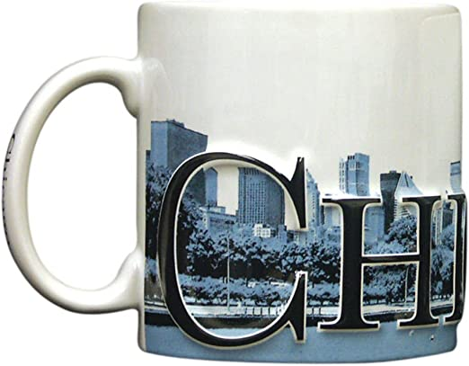 6 Inches Long By 4.25 Inches Tall By 4 Inches in Diameter Duo Color Relief 18 Oz Ceramic Mug Texas Americaware