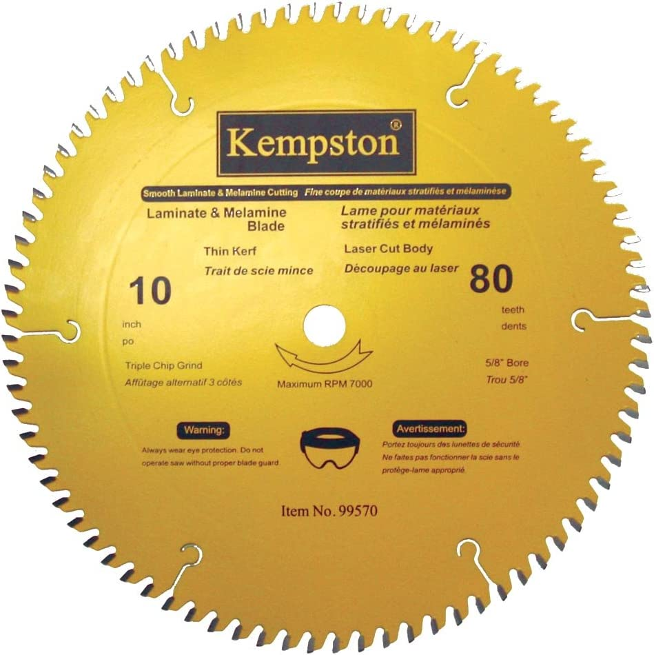 Kempston 99570 10 Inch By 80 Tooth Professional Thin Kerf Laminate