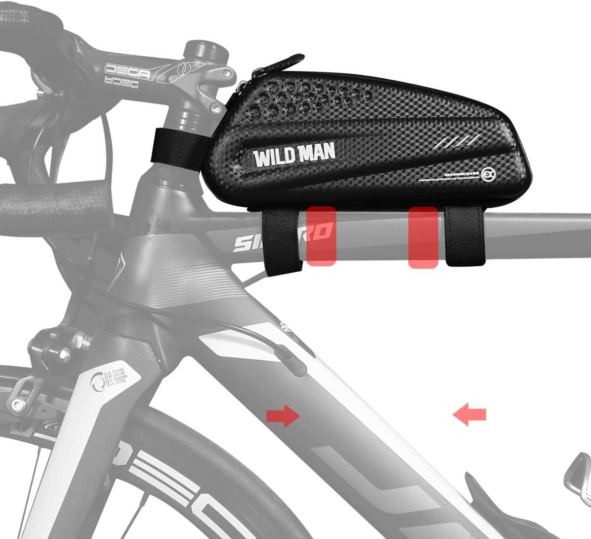 BWBIKE Bolsa de Almacenamiento de Bicicletas en Bicicleta Bolsa de Herramientas para Cuadro de Bicicletas 1L Negro Bolsa de Bicicleta de montaña Bolsa de Combustible de Ciclismo Superior