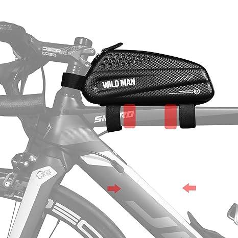 BWBIKE Bolsa de Almacenamiento de Bicicletas en Bicicleta Bolsa de Herramientas para Cuadro de Bicicletas 1L Negro Bolsa de Bicicleta de montaña Bolsa ...