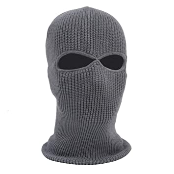 f41e4fa14fb4 Ocamo Knit Balaclava Unisex Windproof 3 Hole Ski Face Mask Thicken Warm Mask  Hat Neck Warmer