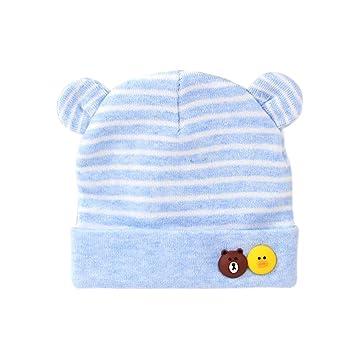 Scrox Linda Gorras para bebé bebé recién Nacido Sombreros de algodón Cálido otoño Invierno recién Nacido Sombrero del otoño y del Invierno del bebé (Azul): ...